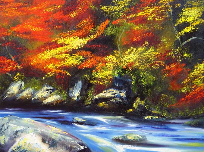 'FALL RIVER IN AUTUMN' by AJ LaGasse - Detail #1