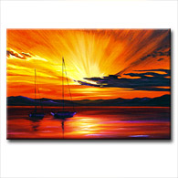 'SUNSET GLORY' - Giclee Print on Canvas Art