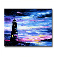 'OUT TO SEA' - Giclee Print on Canvas Art