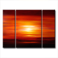 'FLAWLESS SUNSET' - abstract art | modern painting