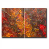 'RUSTIC FOSSIL' - abstract art | modern painting