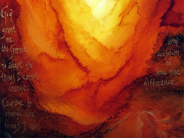 'SERENITY PRAYER' by AJ LaGasse - Detail #1