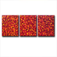 'RED HOT FUSION' - abstract art | modern painting