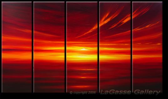 'CRIMSON GLOW SUNSET' by AJ LaGasse - Detail #1
