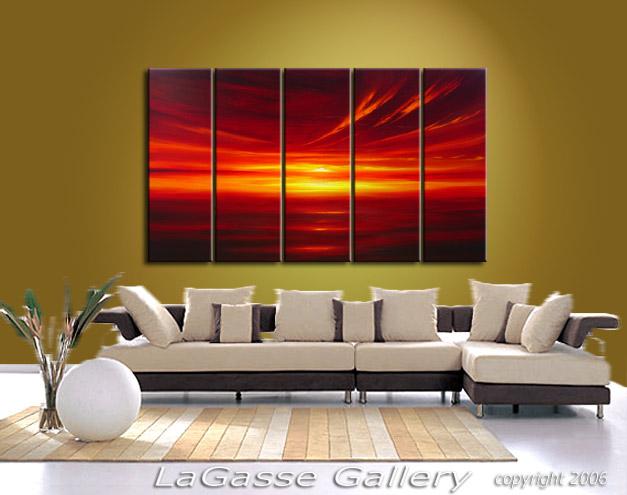 Painting: 'CRIMSON GLOW SUNSET' - Detail #4