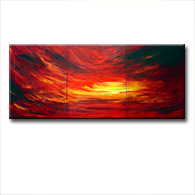 'BORA BORA SUNSET' - abstract art | modern painting