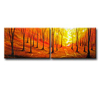 'DEEP FOREST' - Giclee Print on Canvas Art