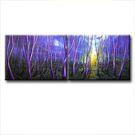 'THE EDGE OF NIGHT' - Giclee Print on Canvas Art