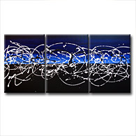 'STRAND THEORY IN BLUE' - Giclee Print on Canvas Art