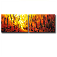 'FOREST GLOW' - Giclee Print on Canvas Art