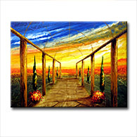 'TUSCAN GARDEN PATH' - Giclee Print on Canvas Art
