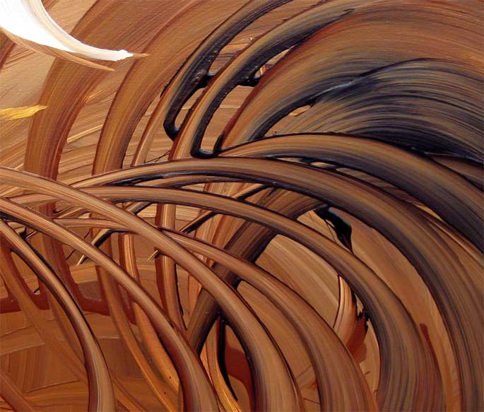 'CHOCOLATE SWIRL' by AJ LaGasse - Detail #1