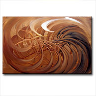 'CHOCOLATE SWIRL' - Giclee Print on Canvas Art