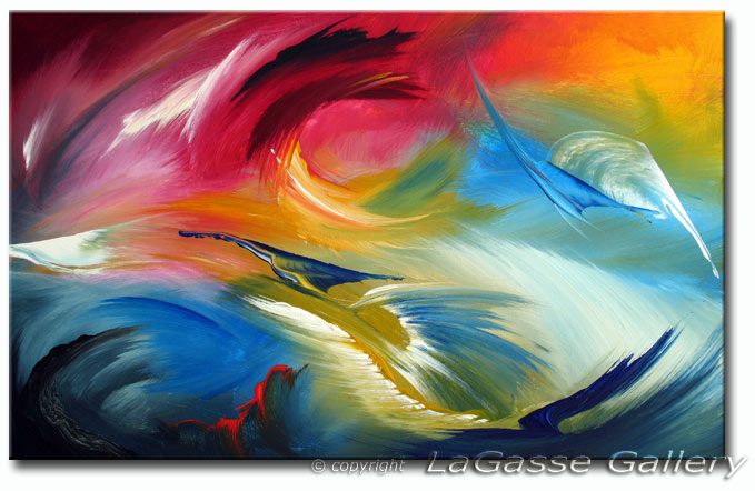 ETERNAL SPRING\' | Abstract Art | Fine Art Giclee Print on Canvas ...