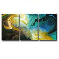 'NEW WORLDS' - Giclee Print on Canvas Art