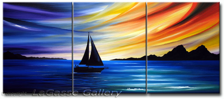 Sail Into The Sunset Abstract Art Fine Art Giclee