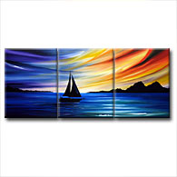 'SAIL INTO THE SUNSET' - Giclee Print on Canvas Art