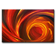 'SHADES OF CRIMSON' - Giclee Print on Canvas Art