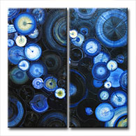 'NIGHT BURST' - abstract art | modern painting