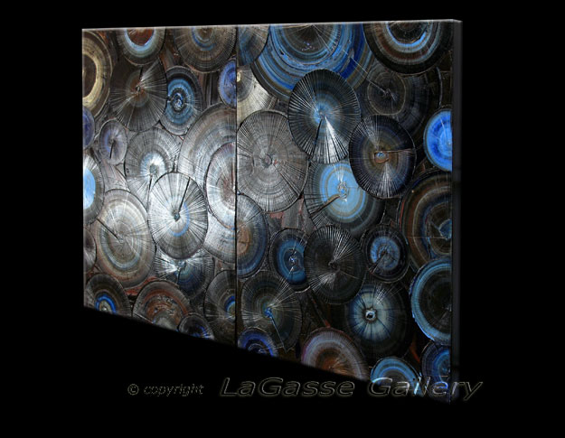 'STEEL BLUE' by Melelina LaGasse - Detail #2