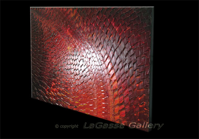 'DEEP CRIMSON MOSAIC' by AJ LaGasse - Detail #2