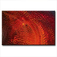 'DEEP CRIMSON MOSAIC' - Giclee Print on Canvas Art