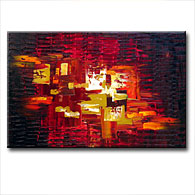 'CRIMSON EMBER' - Giclee Print on Canvas Art