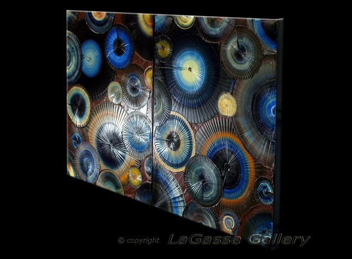 'BLUE FOSSIL ILLUSION' by AJ LaGasse - Detail #2