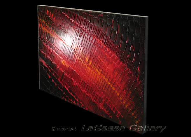 'VINTAGE MOSAIC IN CRIMSON' by AJ LaGasse - Detail #2