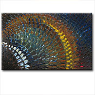 'STEEL MOSAIC' - Giclee Print on Canvas Art