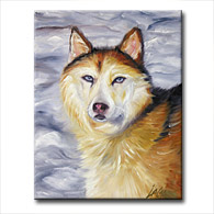 'HUSKY - SHEBA' - Giclee Print on Canvas Art
