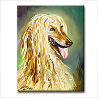 'AFGHAN HOUND - CHARDONNAY' - Giclee Print on Canvas Art