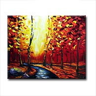 'AUTUMN'S GLOW III' - Giclee Print on Canvas Art