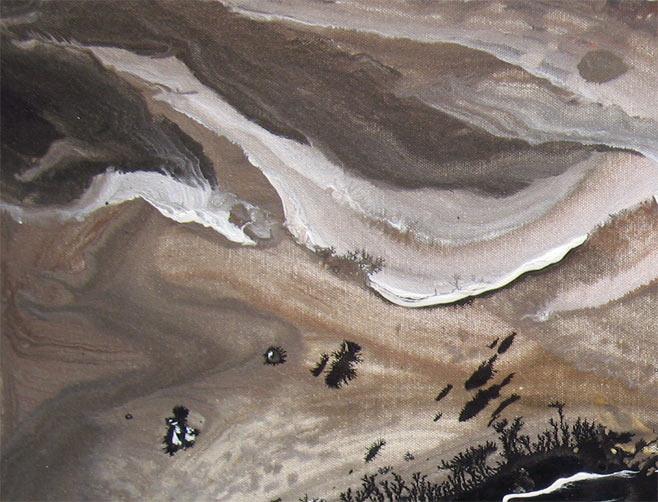 Painting: 'NIGHT SHADE' - Detail #4